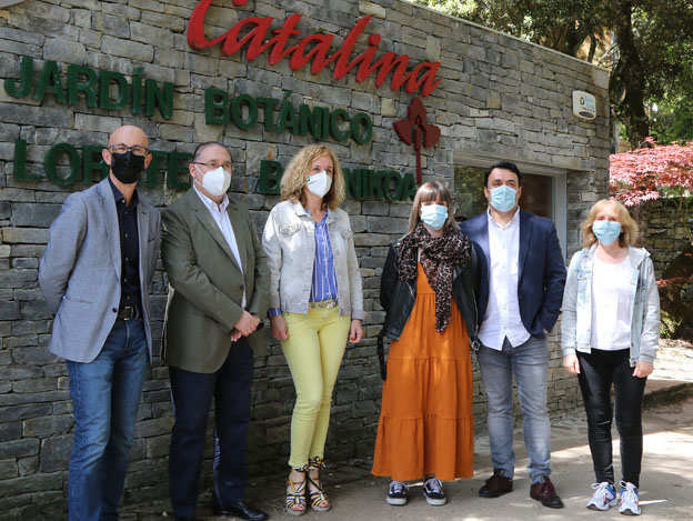 La diputada de Turismo, Consumo y Empleo, visita el Jardín Botánico de Santa Catalina