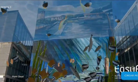 El mural del Centro Cívico Ramiro Fernández cobra vida gracias a la aplicación uRAzpi
