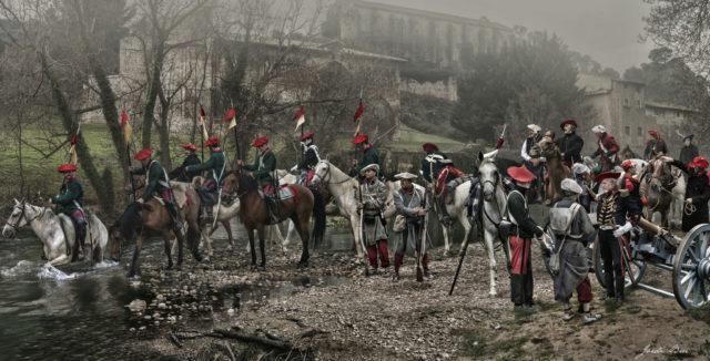 Santa Catalina recrea la quema del monasterio durante la Primera Guerra Carlista