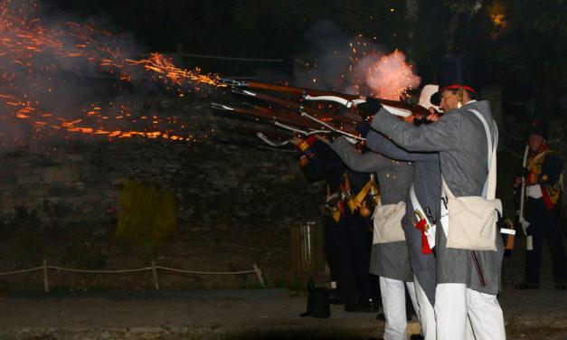 Santa Catalina recreó la quema del convento durante la Primera Guerra Carlista